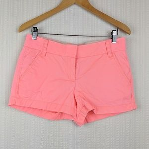 J. Crew | Bright Pink Cotton Chino Shorts Size 2